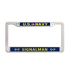 US Navy Crystal Stainless Steel License Frame