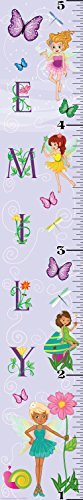 Mona Melisa Designs Customized Fairy Girl Emily Growth Chart Decorative Wall Sticker [並行輸入品]   B077Z1T8V3