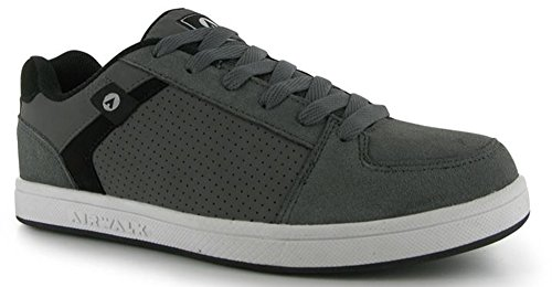 Mens Sports Suede Accents Brock Skate Shoes Trainers Charcoal