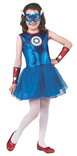 Captain Marvel Girl Costume (Rubie's Marvel Universe Classic Collection American Dream Costume, Child Small)