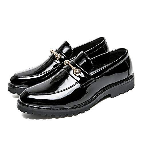 Negro Moda Botón El Oxford 2018 42 Charol Zapatos Informal Hombres De Hombre Metal Que Los Eu Antirruido Color Tendencia Formales Azul Negocios Hace Juego Tamaño Del 0q4f7wP0