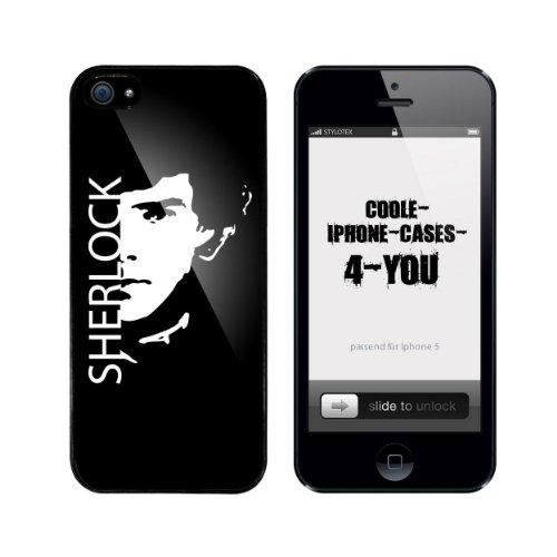 Iphone 5 / 5S Schutzhülle Sherlock - schwarzer Rahmen