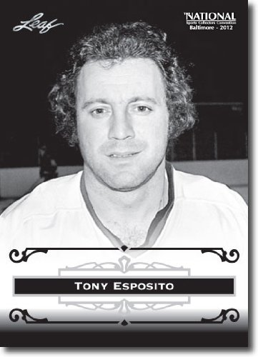 2012 Leaf HOF Baltimore National Sports Collector Promo #TE1 Tony Esposito - Chicago Black Hawks (Hockey Hall of Fame)(Collectible Trading Card)