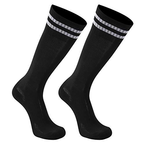 Baseball Socks Kids, transla wonder Teens Long Athletic Tube Socks Youth Football Soccer Socks for Girls and Boys, 2 Pairs, Black