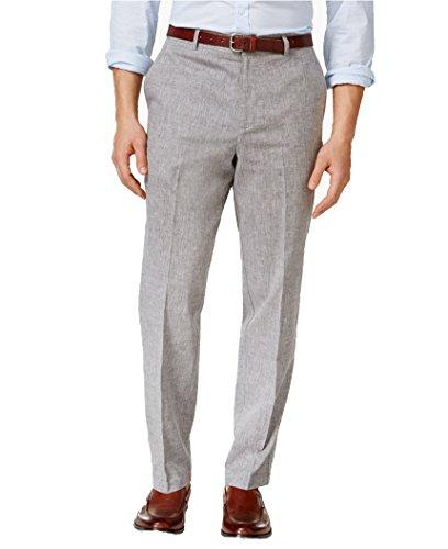 Linen Career Pant (Tasso Elba Men's Linen Pants (36W 30L, GREY))