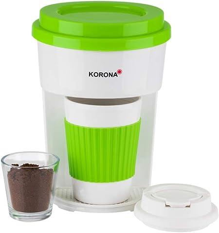 Korona - Cafetera de goteo con vaso talla única verde y blanco: Amazon.es: Hogar