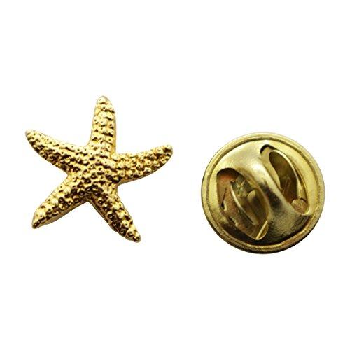 Starfish Mini Pin ~ 24K Gold ~ Miniature Lapel Pin ~ Sarah's Treats & Treasures