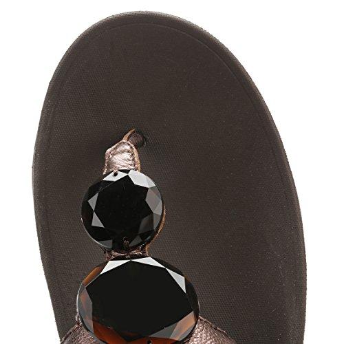 Fitflop Luna Pop - Sandalias con tacón Mujer Brown (Bronze)