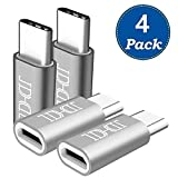 USB Type C Adapter 4 Pack, Arukas Data Syncing and Charging USB-C to Micro USB Connector for Samsung Galaxy S9 S9+ S8 Plus S8+ Note 8 Note 9 MacBook Pro LG V30 V20 Nexus 5X 6P Pixel 2 XL 3XL&More