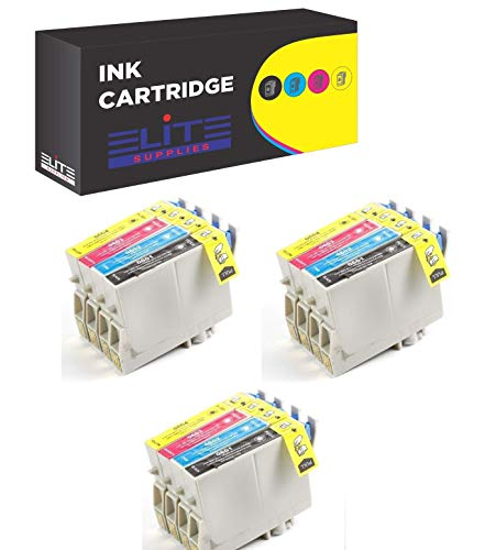 Aria Supplies Remanufactured 12 Pack Inkjet Cartridges for Epson T060 T060120 T060220 T060320 T060420 Compatible with Stylus C68, C88, C88Plus, CX3800, CX3810, CX4200, CX4800, CX5800F, -