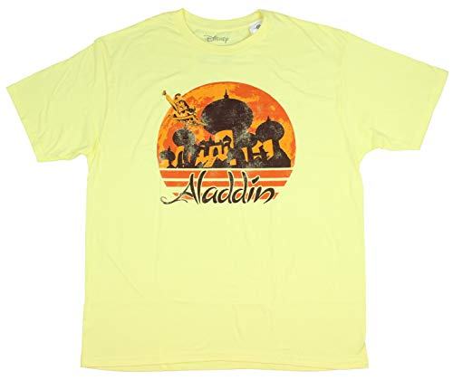 Disney T Shirt Men's Aladdin Your Wish Magic Carpet Graphic Logo Tee X-Large