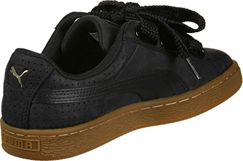 Noir Basket Femme Perf Sneakers Basses Heart Or Gum Puma 0Ywd0a