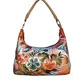 Anuschka Women's Hobo Premium Hibiscus Antique, Bags Central