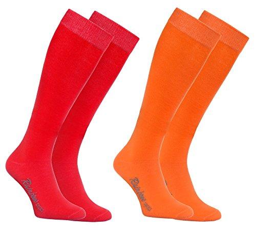 Le 1xorange Hommes Peigné Jours Colorées 1xrouge Rainbow Tous Hautes Chaussettes Les Femmes Coton Modernes Longues By Europe En Fabriquées Socks Pour Et Confortables Délicates fUUqXOB