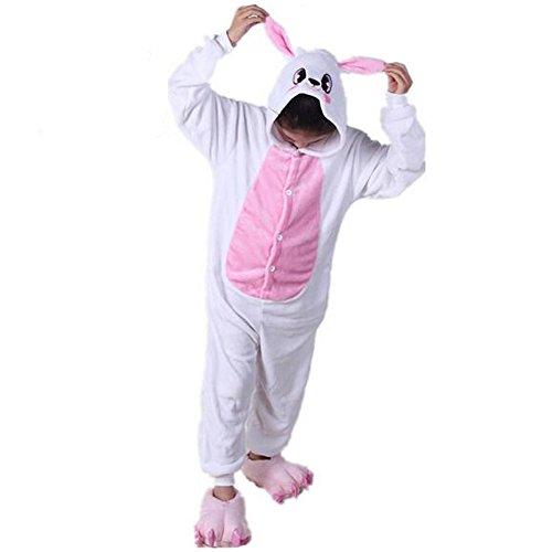 Children's Pajamas Animal Costume Kids Sleeping Wear Kigurumi Pajamas Cosplay (L, Pink rabbit) -