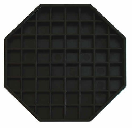 Update International DT-6X6 Octagonal Plastic Drip Tray, 6 by 6-Inch - Set of ()