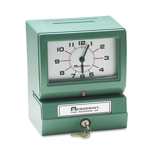 (ACROPRINT 150NR4 Time Clock, Auto Electric - Month, Date, Hours,)