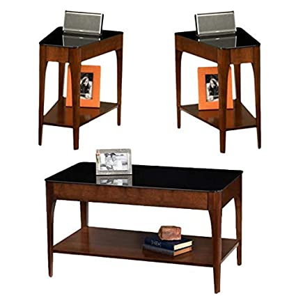 Amazon Com Leick Furniture 2 Piece Glass Top Coffee Table And Set