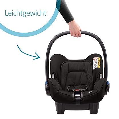 Maxi-Cosi Citi Babyschale, federleichter Baby-Autositz Gruppe 0+ (0-13 kg), nutzbar ab der Geburt bis ca. 12 Monate, Black Raven (schwarz) 3