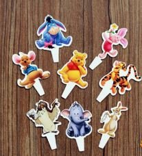 (Winnie the Pooh Cupcake Flexi Picks - Set of 24)