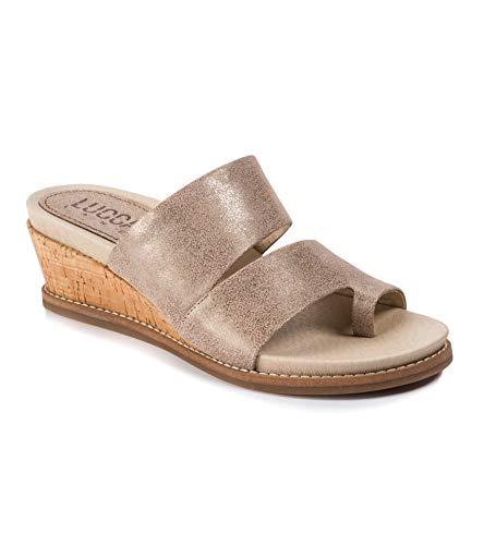 Slide Lane - Lucca Lane Whitley Women's Sandals & Flip Flops Light Gold Size 7 M (LL10710)