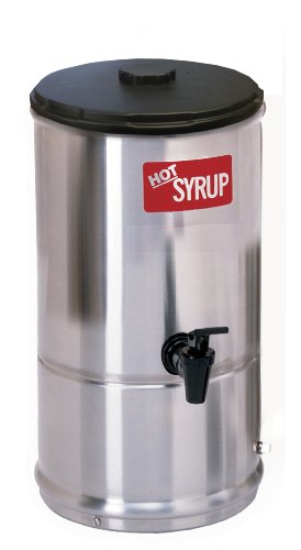 Wilbur Curtis Syrup Warmer 1.0 Gallon Syrup Container - Stainless Steel and Temperature Controls - SW-1 (Each)