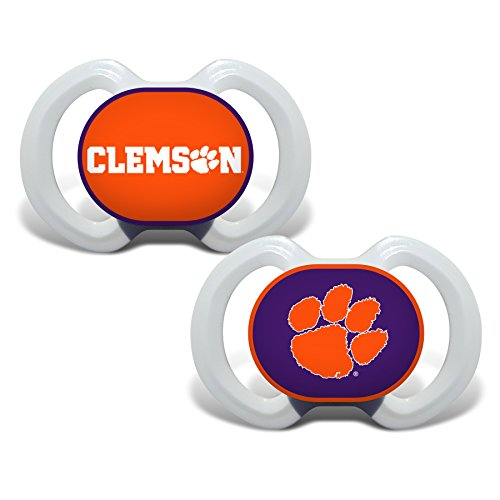 (Baby Fanatic Clemson University Tigers 2 Piece Pacifier Set)
