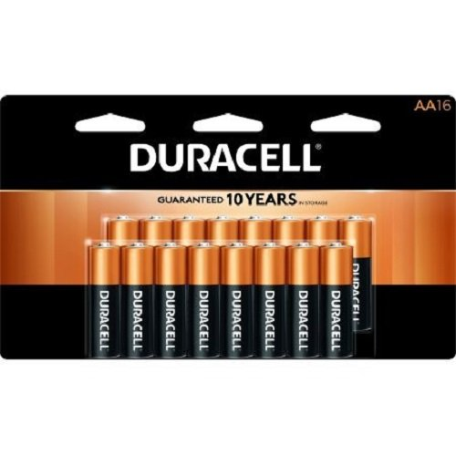 Duracell Coppertop AA Alkaline 16 Batteries MN1500, Packaging May Vary (Duracell Aa)