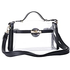 Stadiums will require a clear bag to enter the stadium, what better way than the cute clear bag!  These Clear bags are stadium friendly and approved for use in NFL stadiums, PGA stadiums as well as concerts and other public events. Made with ...