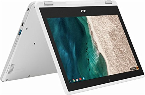2017 Newest Acer Premium R11 11.6' Convertible 2-in-1 HD IPS Touchscreen Chromebook - Intel Quad-Core Celeron N3160 1.6GHz, 4GB RAM, 32GB eMMC, Bluetooth, HD Webcam, HDMI, USB 3.0, Chrome OS - White