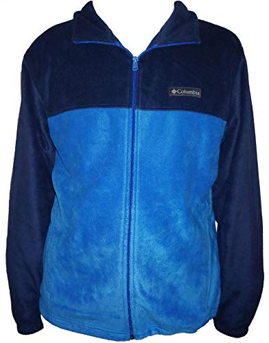 Columbia Men's Steens Mountain Full Zip 2.0 Soft Fleece Jacket (Bright Blue/Navy, Large) ()