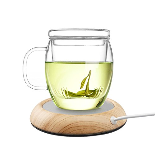 Usb Heated Mug - Seahome USB Warming Coasters Set Holder Constant Heat Cup Mat Creative Tea Coffee Milk Doilies Home Furnishings for Tables