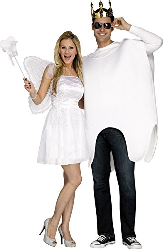 Fun World Adult Tooth Fairy And Tooth Costume One Size - Tooth Fairy Adult Costumes