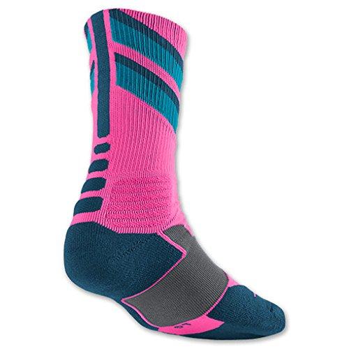 Nike Hyper Elite Chase Socks X-Large Pink Power/Light Blue/Blue Force