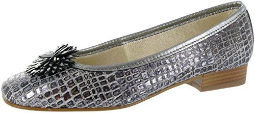 Riva La Plaque Ballerina womens Shoes Pewter Size 39.5