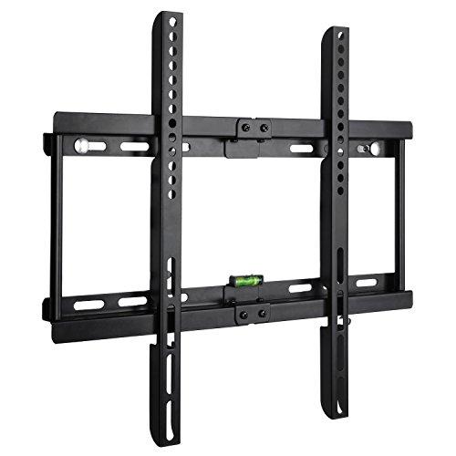 BPS Ultra Slim Flach Wandhalter TV Wandhalterung universell passend für alle TV und Monitor Hersteller 58cm-140cm(23-55 inch), VESA/ Lochabstand 100 x100-400x400, Kapazität 95kg, Wandabstand nur 3,5cm