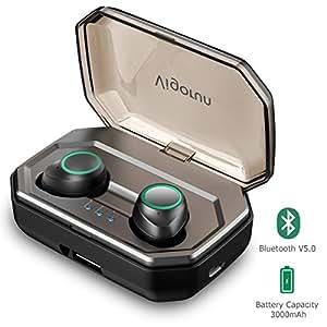 Auriculares Bluetooth 5.0 Vigorun Auricular Inalámbricos Deportivos Mini In-Ear Manos Libres Bluetooth con 3000mAh Caja de Carga,IPX6 Impermeable,Reducción de Ruido CVC8.0, para iOS y Android