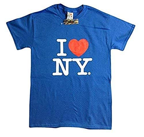 I Love NY Short Sleeve, Heart T-Shirt, Tee Shirt for Men, Screen Printed Logo (3X-Large, Blue)]()