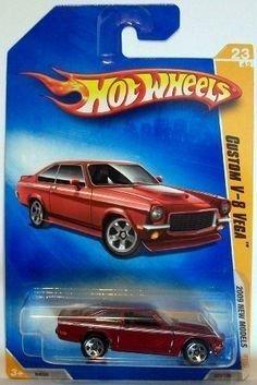 (HOT WHEELS 2009 NEW MODELS RED CUSTOM V-8 VEGA 5 SPOKE)