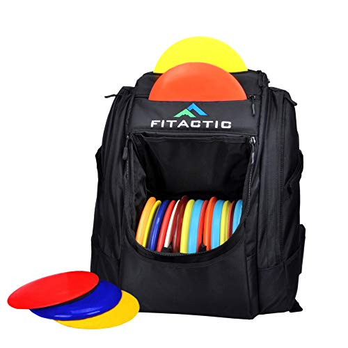 FITACTIC Luxury Frisbee Disc Golf Bag Backpack - Black