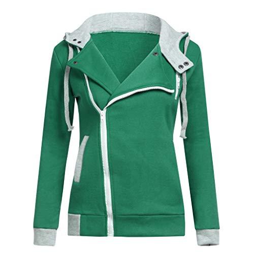 Ladies Hacking Jackets - Women Jacket Sale,KIKOY Long Sleeve Plus Velvet Hooded Sweater Zipper Chic Coat