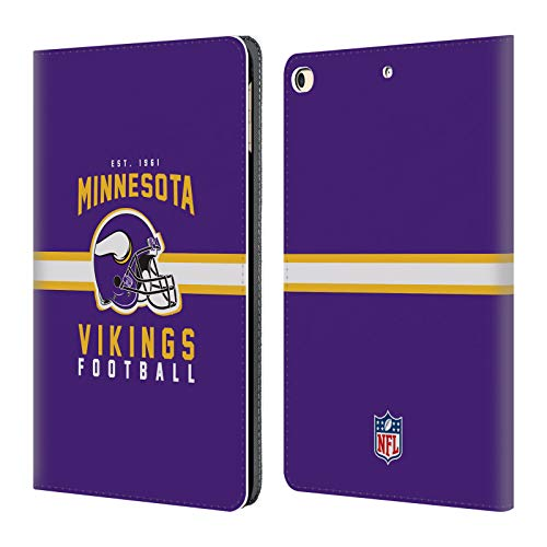- Official NFL Helmet Typography 2018/19 Minnesota Vikings Leather Book Wallet Case Cover for iPad 9.7 2017 / iPad 9.7 2018