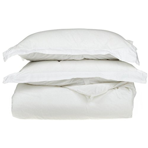 Superior 1500 Thread Count 100% Egyptian Cotton, Single Ply, King/California King Duvet Cover Set, Solid, White from Superior