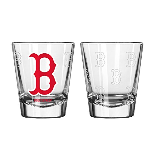 MLB Boston Red Sox Boelter Shot Glasses 2-Pack (Sox Mlb Glass)
