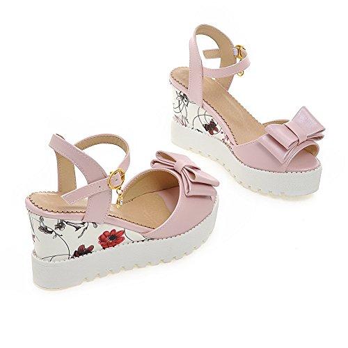 AN Womens Cold Lining Platforms-Sandals Solid Urethane Platforms Sandals DIU00943 Pink Pq891u5