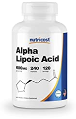 Nutricost Alpha Lipoic Acid 600mg Per Se...