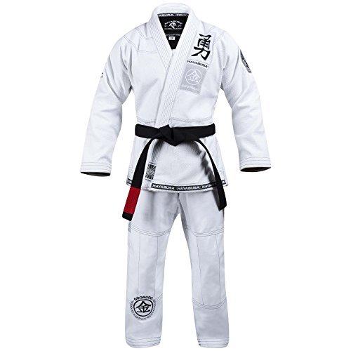 Hayabusa Goorudo 3.0 Gold Weave Brazilian Jiu Jitsu Gi (White, A2) (Jitsu Jiu Men Gi)
