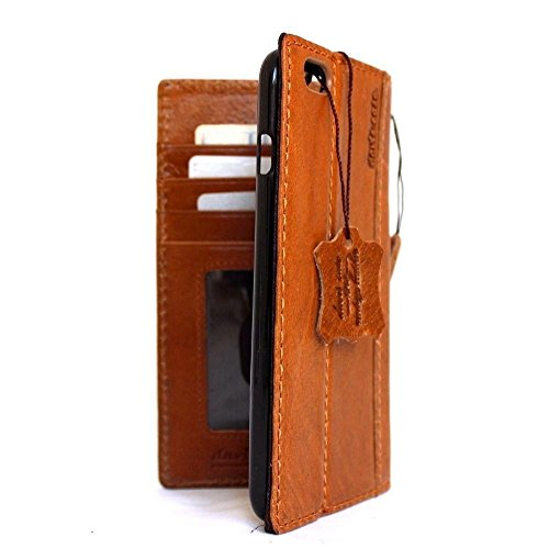 Echtes Leder Handmade für Apple iPhone 6Wallet spezielle 11,9cm Retro Book Luxus Cover Retro ID