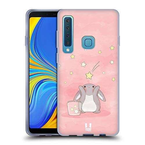 (Head Case Designs Pink Starcatcher Bunnies Soft Gel Case for Samsung Galaxy A9 (2018) / A9s)