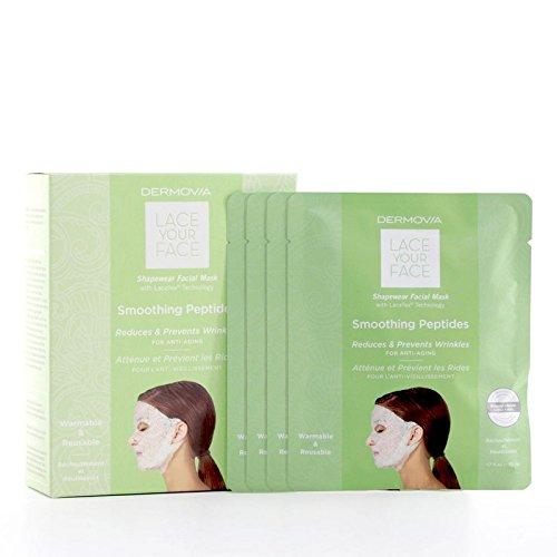 Dermovia Lace Your Face Compression Facial Mask Smoothing Peptides - は、あなたの顔の圧縮フェイシャルマスク平滑化ペプチドをひもで締めます [並行輸入品]   B071H8PWMT